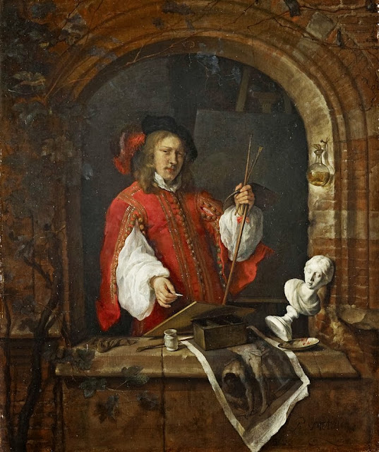 Gabriel Metsu - Self-Portrait as a Painter