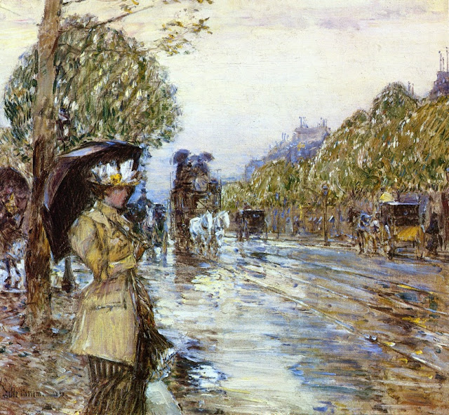 Childe Hassam - Rainy Day, Paris