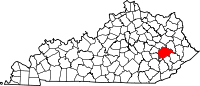 Wikipedia map of Kentucky