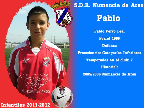 ADR Numancia de Ares. Infantís 2011-2012. PABLO.