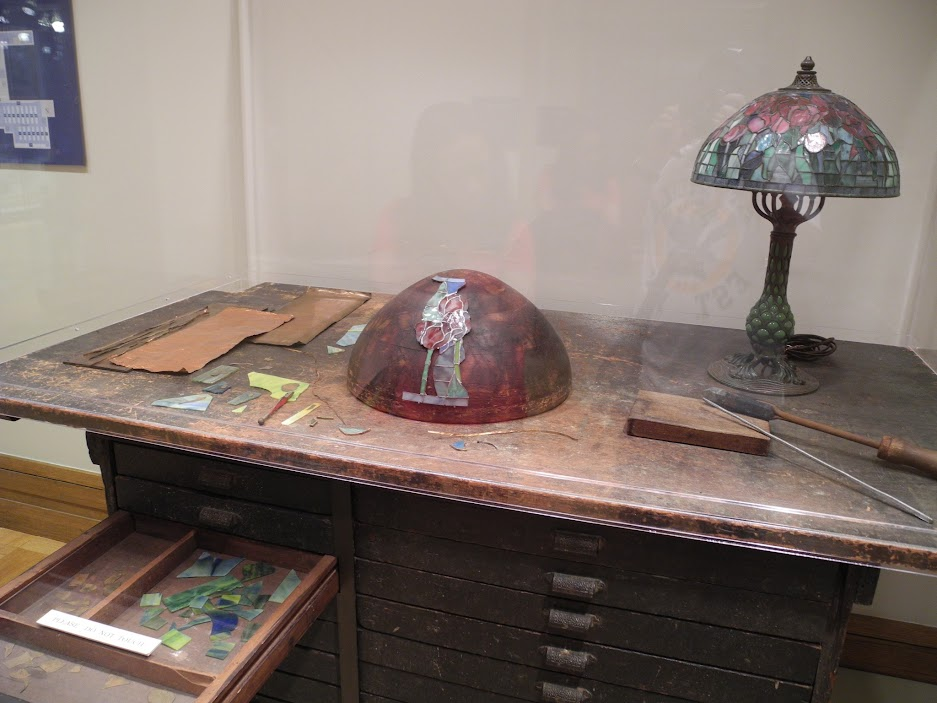 A Tiffany Studios work desk from the early 1900s