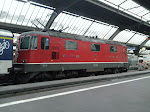 then a swiss train to the airport