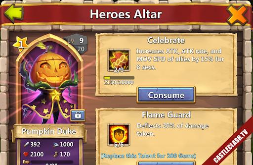 Account Castle Clash have Pumpkin Cupid Druid Paladin Succubus over 184,000HB