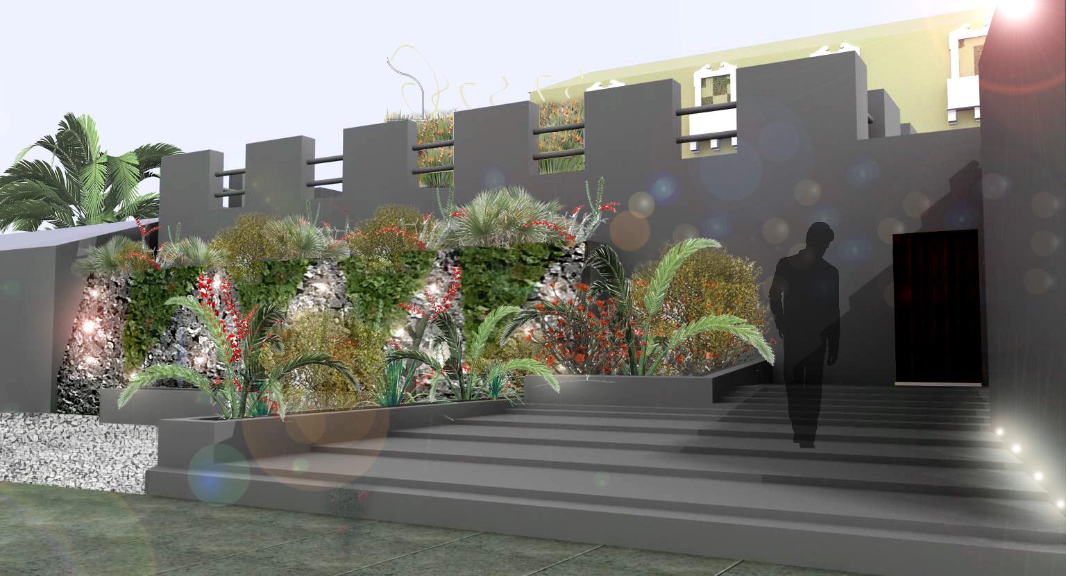 Luca simonetti architetto render giardino privato for Rendering giardino