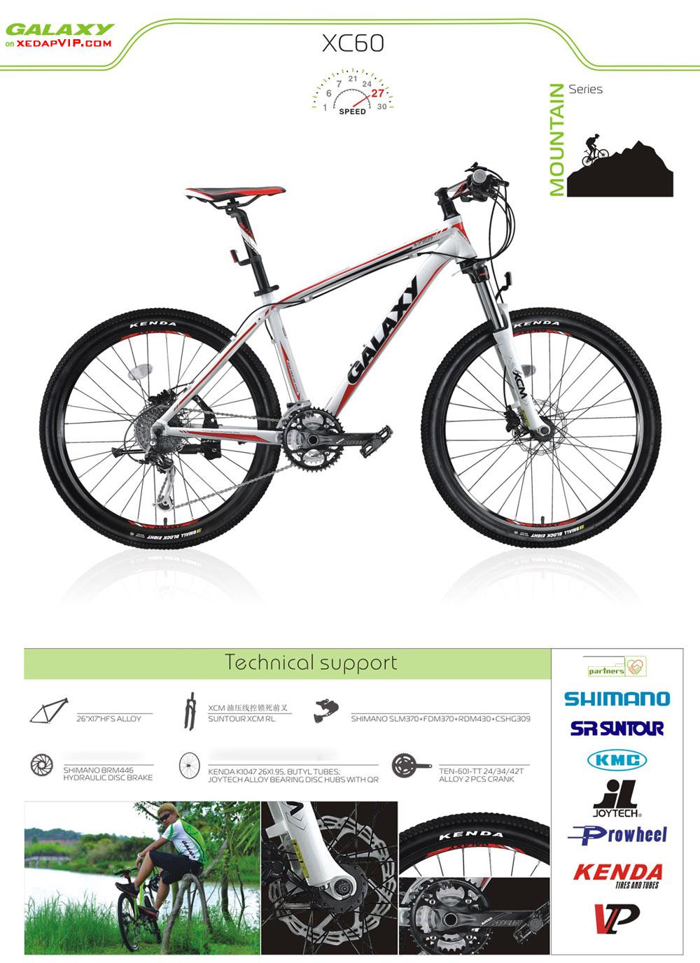 Xe dap the thao GALAXY XC60, xe dap the thao, xe dap trinx, xe đạp thể thao chính hãng, xe dap asama, xc60
