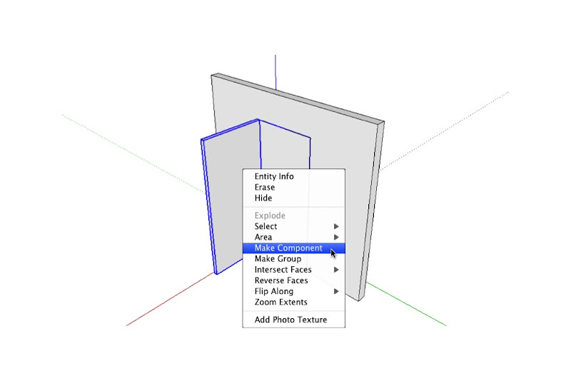 Select the open and closed door components and make a new component that includes both. A good name for this component might be \u201cDoor-36-L-Main\u201d.  sc 1 st  SketchUp Blog & Making doors look right in different ortho views | SketchUp Blog