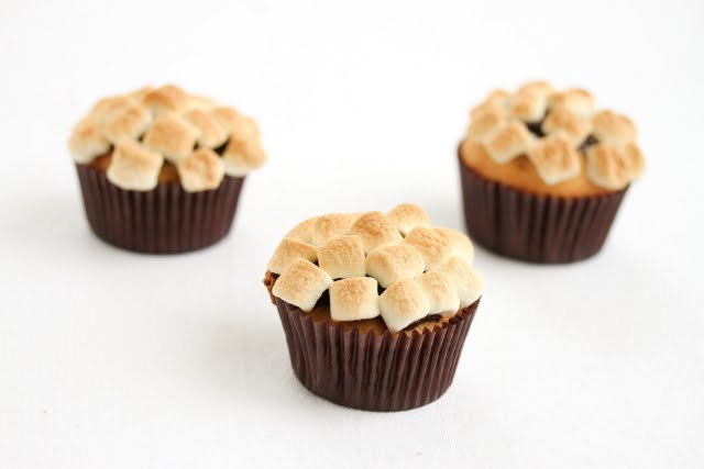 photo of three S'more Cupcakes