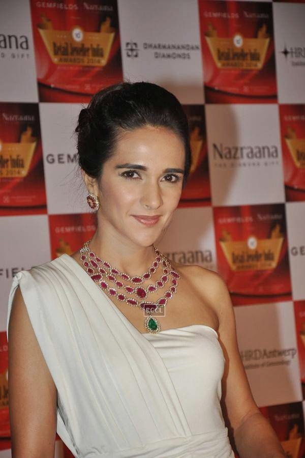 Tara Sharma during the 10th Annual Gemfields and Nazraana Retail Jeweller India Awards, 2014, in Mumbai, on July 19, 2014. (Pic: Viral Bhayani)