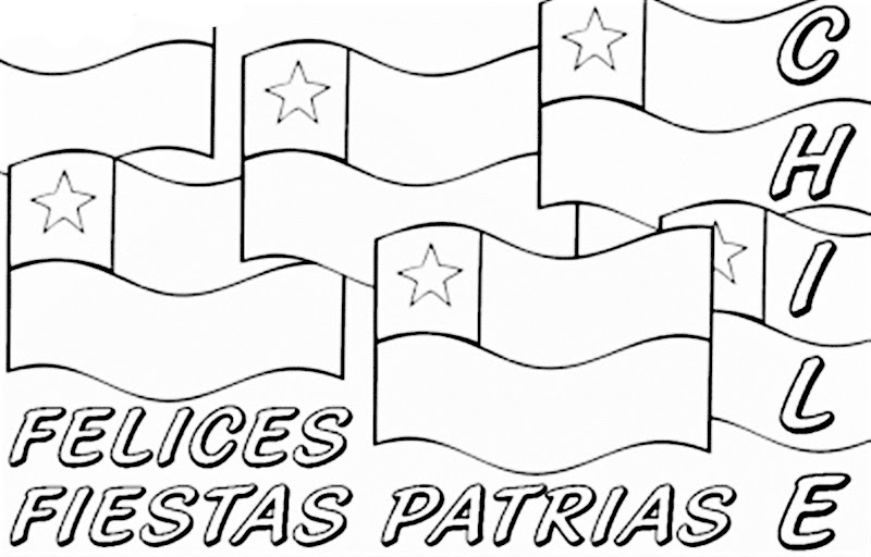 Images independence of Chile coloring pages