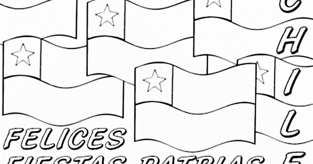 Dibujo De Chilena Para Colorear: Pinto Dibujos: Fiestas Patrias De Chile Para Colorear