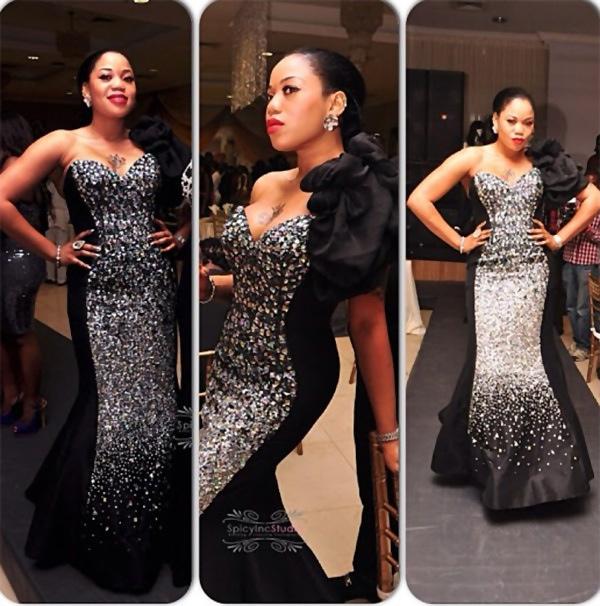 Fashion Ankara Magazine Nigerian Female Celebrities Trend In Sequins