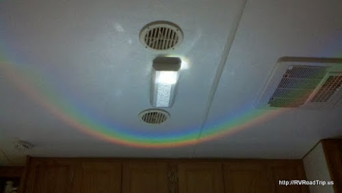 An indoor rainbow.
