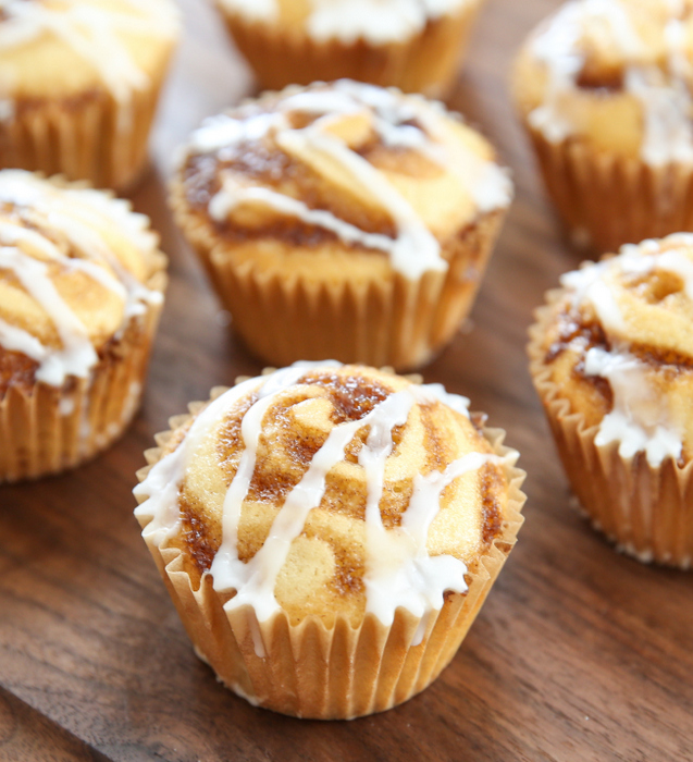 close-up photo of a Cinnamon Roll Muffin