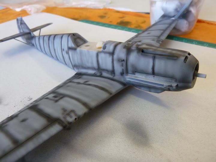 Bf-109 E-3 Tamiya 1/48 - Reforma pintura P1020457