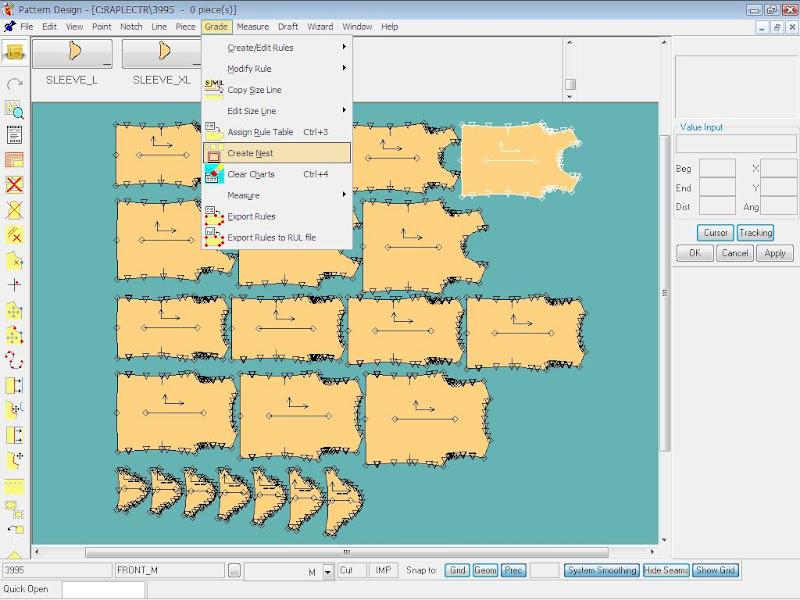 Tạo Rập Size Lồng Từ Rập Size Đơn Trong Gerber Pattern Design 2