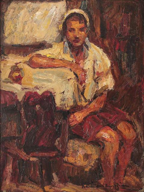Rudolf Schweitzer-Cumpăna - Ţărăncuţă în interior