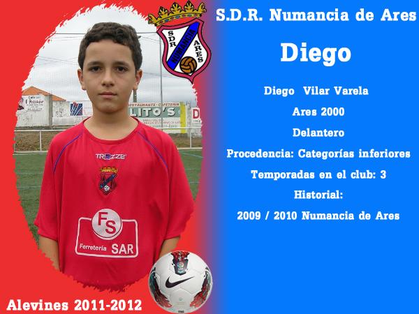 ADR Numancia de Ares. Alevíns 2011-2012. DIEGO.