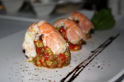 Scampi at Vapor Restaurant at Hotel Bellevue in Dubrovnik Croatia