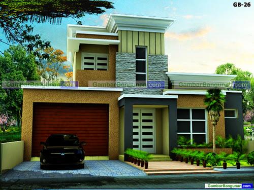 Desain rumah jepang modern 2 lantai