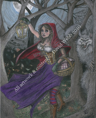 Red Riding Hood and Big Bad Wolf - Shortcut Art
