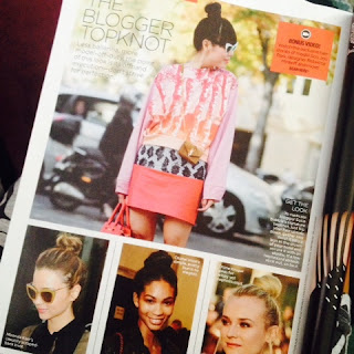 Topknot inspiration from Lucky Magazine