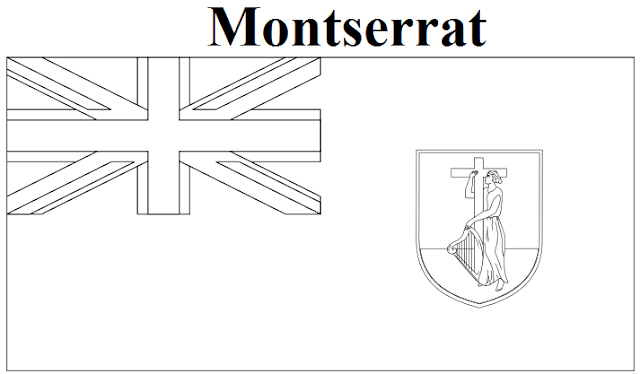 Geography Blog Montserrat Flag Coloring Page