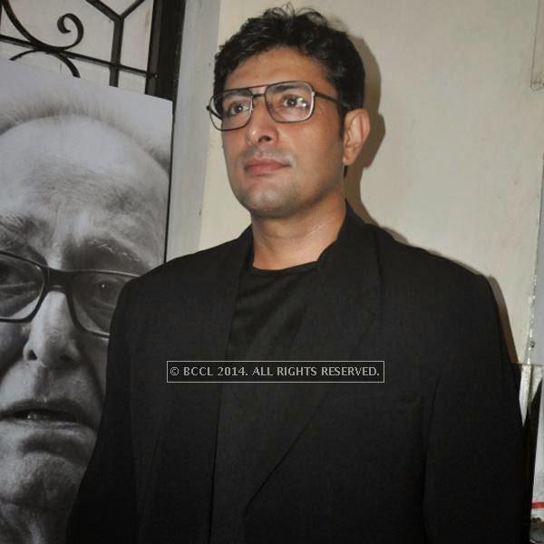Priyanshu Chatterjee during the premiere of Ranjan Ghosh's movie Hrid Majhare at Priya in Kolkata.