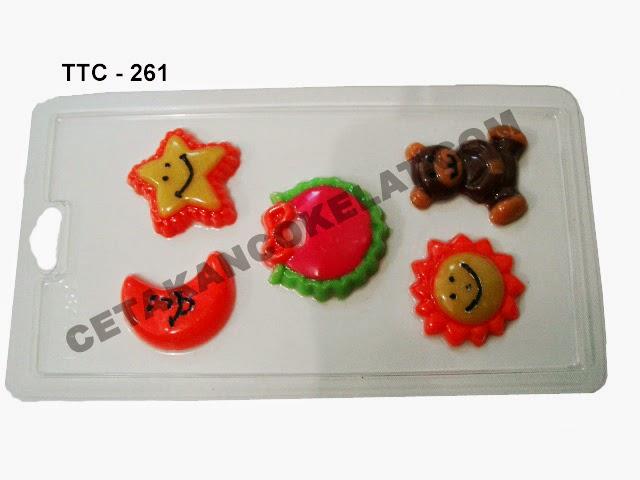Cetakan Coklat TTC261 Matahari Bulan Bintang teddy bear