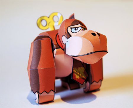 Wind-up Donkey Kong Papercraft