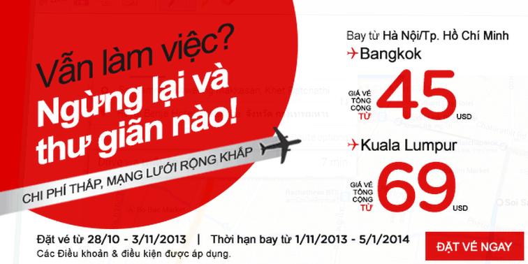 AirAsia tung vé giá rẻ đi Bangkok