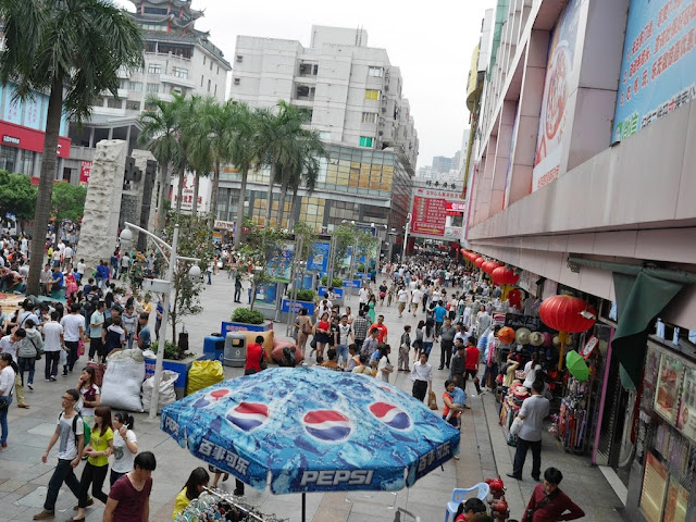 crowds at Dongmen, Shenzhen