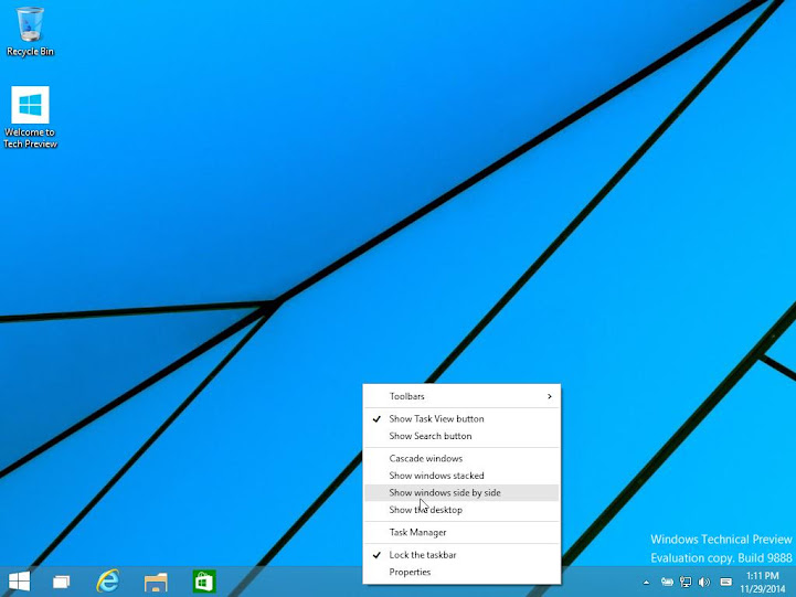 Windows 10 Tech. Preview build 9888 Leaked!