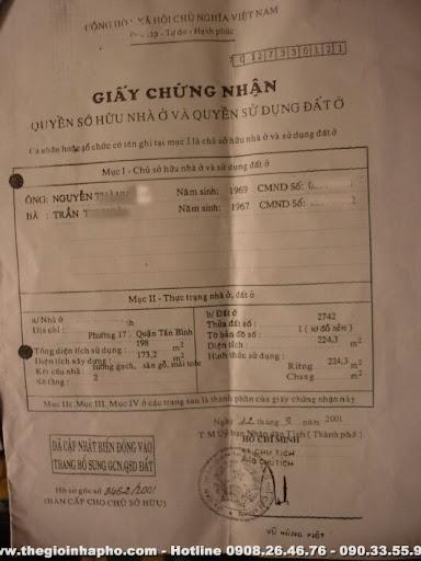 P1090031 Cho thuê 600m2 văn phòng mặt tiền Q. Tân Phú giá 25 triệu/tháng
