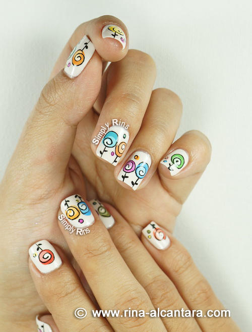 Happy Mother's Day Nail Art Design