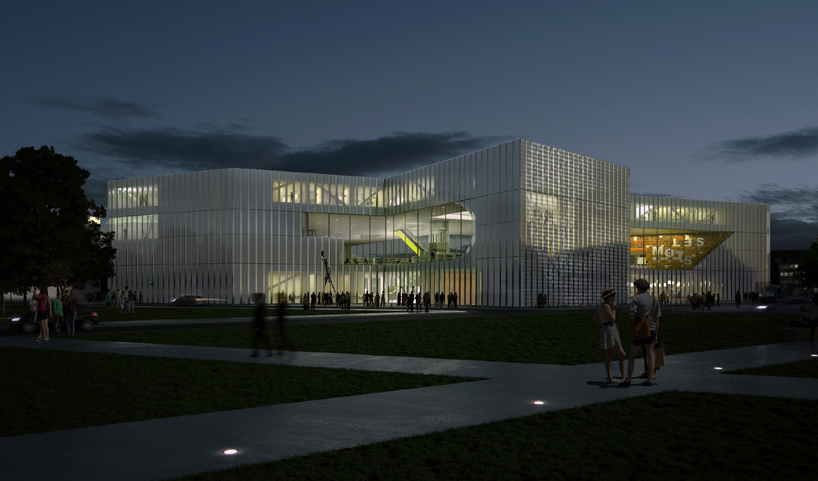 New library in Caen design by OMA