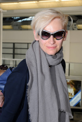 Tilda Swinton Wears Sunglasses Yves Saint Laurent 6366 S