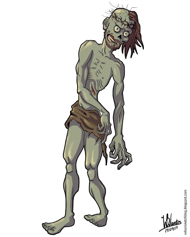 Cartoon of Jesus as a walker, using Krita.