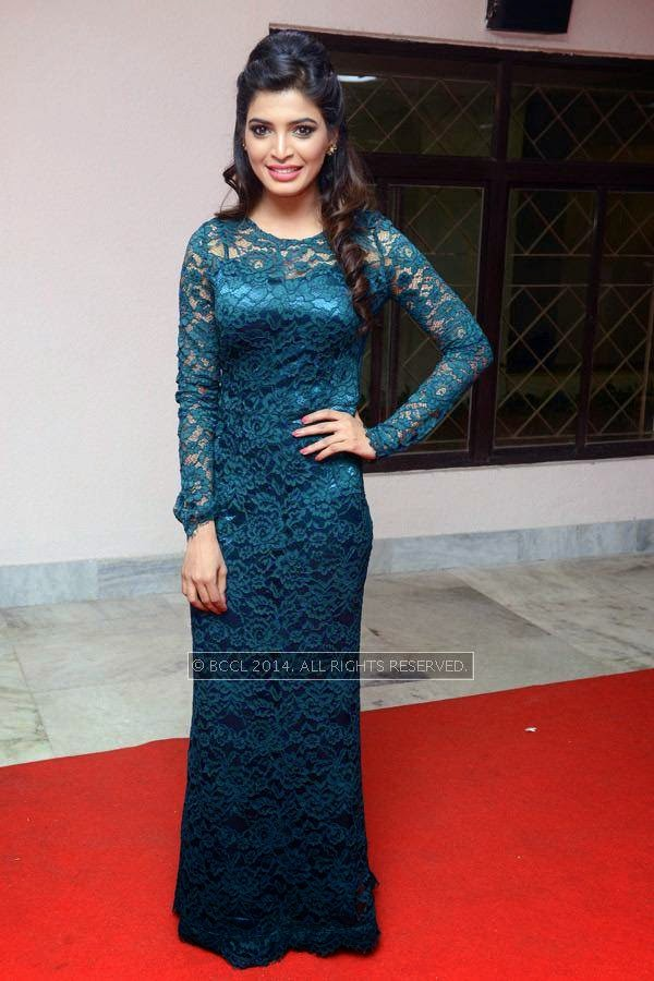 Sanchita Shetty during the 61st Idea Filmfare Awards South, held at Jawaharlal Nehru Stadium in Chennai, on July 12, 2014.