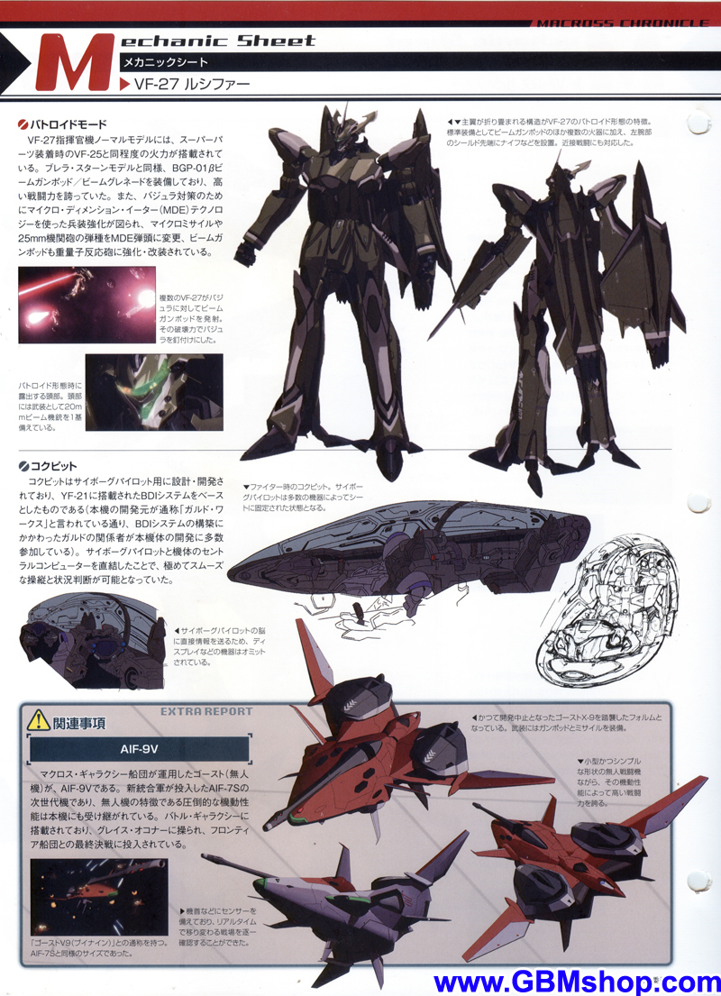 Macross Frontier VF-27 Lucifer Mechanic & Concept Macross Chronicle