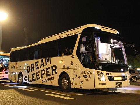 中国バス「ドリームスリーパー」 G1202 足柄SA休憩中