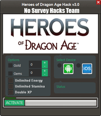 Heroes of Dragon Age Hack without survey