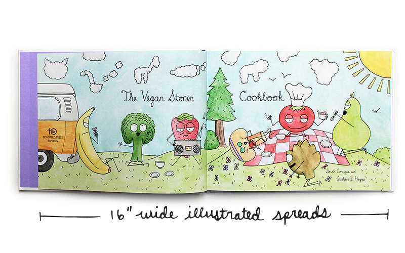 16 inch wide illustrated spreads