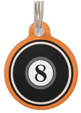 Orange Custom Dog ID Tag