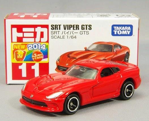 Mô hình Tomica 11 SRT Viper GTS có tỉ lệ 1:64