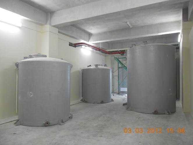 Bồn composite đã lắp đặt tại công trình