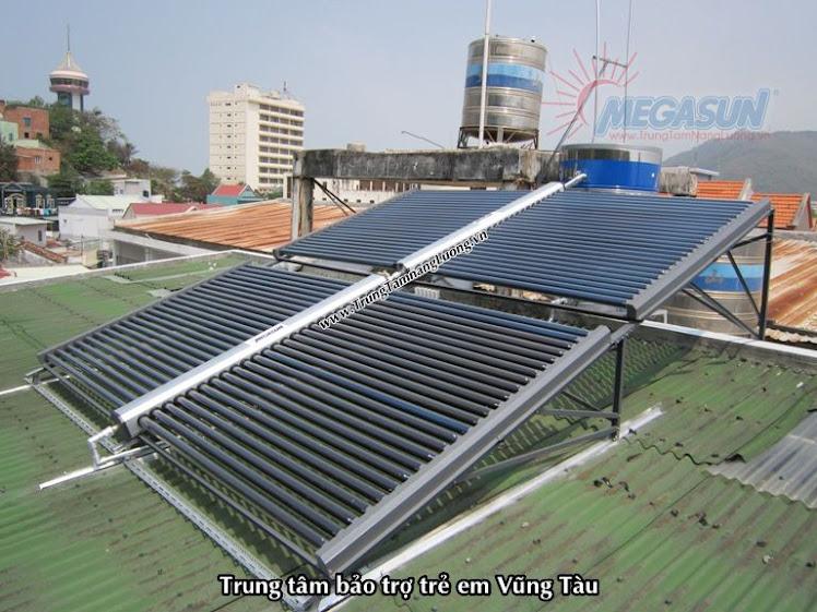 Hệ thống máy nước nóng năng lượng mặt trời Megasun tại Trung tâm bảo trợ trẻ em Vũng Tàu