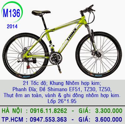xe dap the thao trinx m136