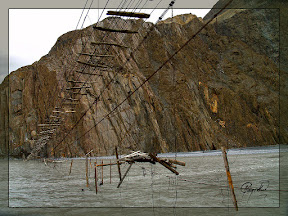 Another Point of View of Pasu Bridge, Pasu, Upper Hunza, Pakistan