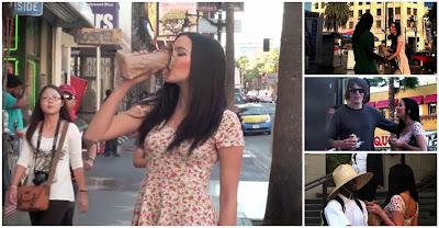 Experiência social: homens reagem a rapariga bêbeda em público