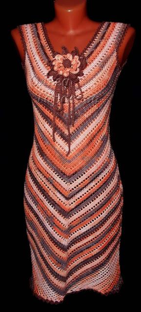 как вязать крючком платье Ольга Тарасова